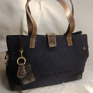 Authentic large blue Dooney & Bourke purse handbag